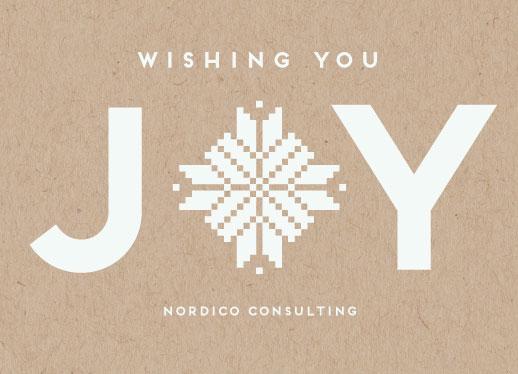 non-photo holiday cards - Joy by Ilze Lucero