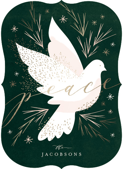 non-photo holiday cards - Peace Dove by Kristie Kern