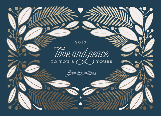non-photo holiday cards - Peaceful Pine by Paper Raven Co.