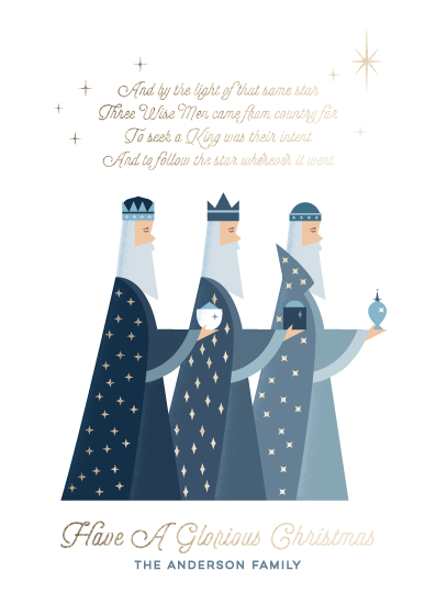 non-photo holiday cards - The Three Kings by curiouszhi design