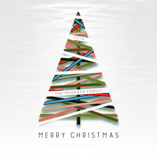 non-photo holiday cards - Paper Christmas Tree by Marina Markova