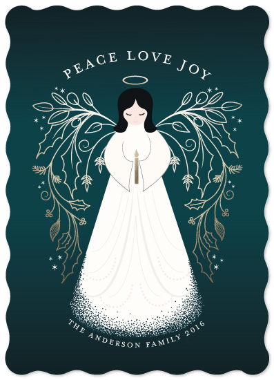 non-photo holiday cards - Christmas Angel by Susan Moyal