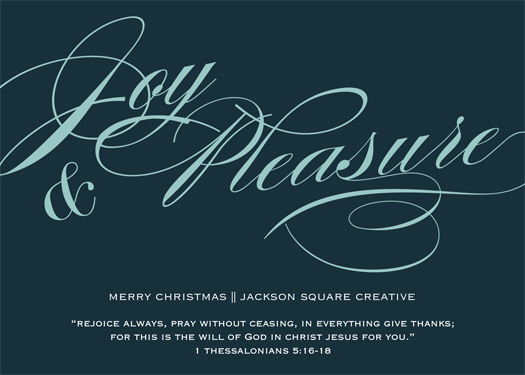 non-photo holiday cards - Joy & Pleasure by Chelsea Voorhees