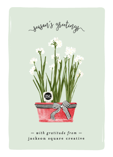 non-photo holiday cards - Paper Whites by Michelle Poe