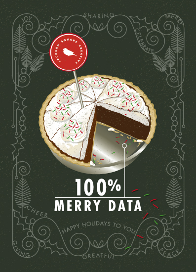 non-photo holiday cards - Merry Data by CaroleeXpressions