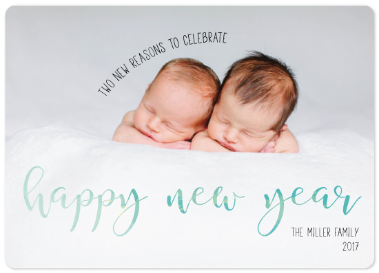 new year's cards - New Year Twins by Emily Ripka