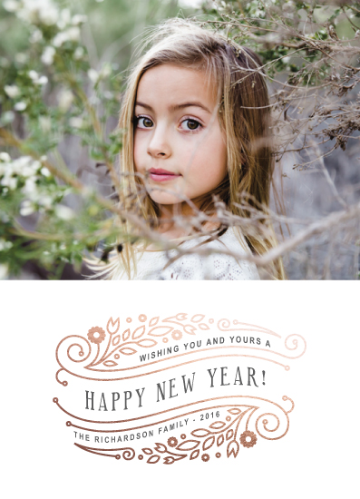 new year's cards - Geo Floral by Ana Sharpe