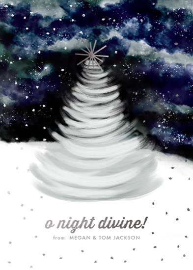 non-photo holiday cards - O Night Divine! by Jackie Crawford