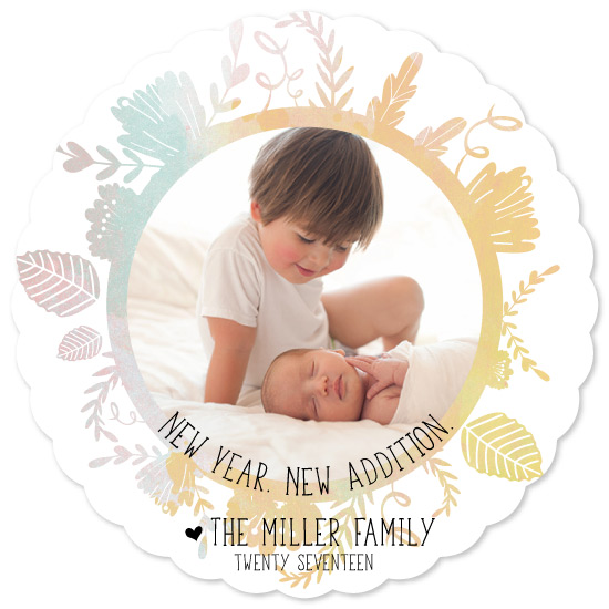 new year's cards - New Year   New Addition by Emily Ripka