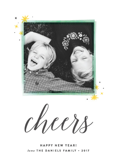 new year's cards - Happy Frame by Olivia Raufman