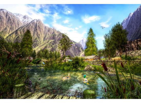 art prints - Lake View by Alina Davis