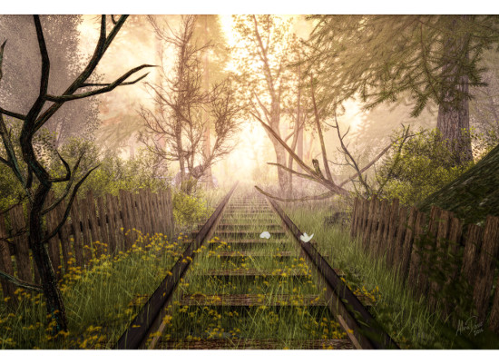 art prints - End of the line by Alina Davis