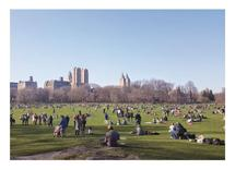 Central Park Crowd by Easter
