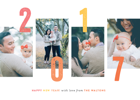 new year's cards - staggered by Sara Hicks Malone