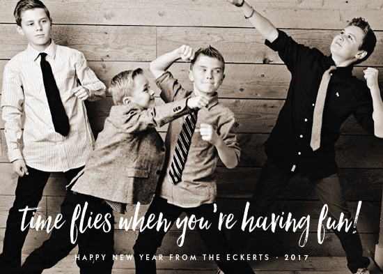 new year's cards - time flies when you're having fun by Sara Hicks Malone