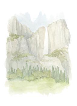 watercolor mountain