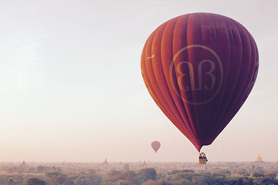 art prints - Balloon over Bagan by LindseyErin