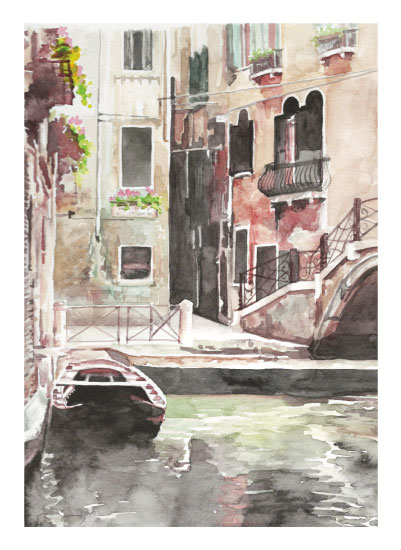 art prints - Venetian Boat at Rest by Erica Sorg
