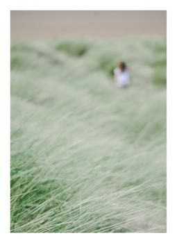 girl in the beach grass two