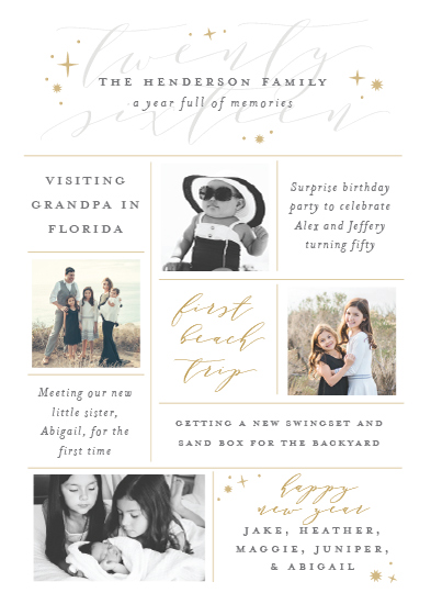 new year's cards - A Year Full of Memories by Sarah Brown