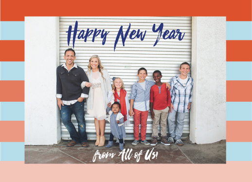 new year's cards - Happy New Year from the gang! by Ellen Gordon