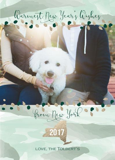 new year's cards - New York Warm Wishes by Ilidia Nicholas