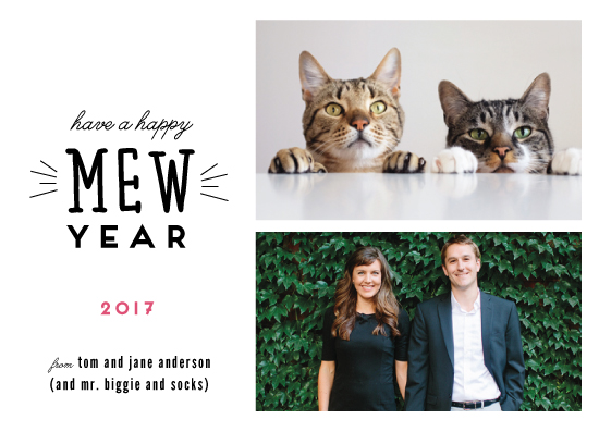 new year's cards - Happy Mew Year by Katie Zimpel