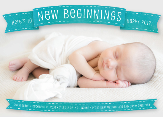 new year's cards - A New Beginning by PrintHappy Designs