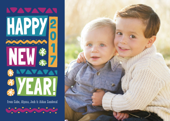 new year's cards - A Bold New Year by PrintHappy Designs