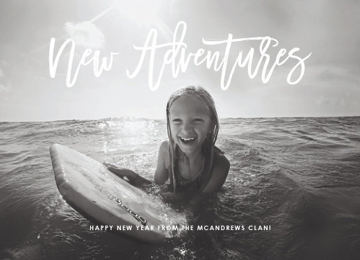 new year's cards - New Year, New Adventures by Fig and Cotton