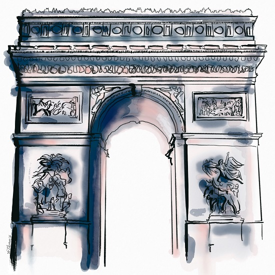art prints - Paris Arc by Therese Tucker