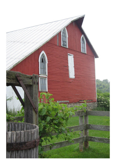 art prints - Rustic Red Barn by Patterned Pomegranate