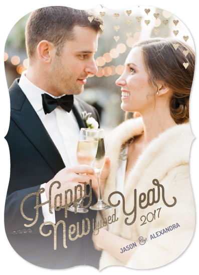 new year's cards - newlywed year by illustrata.design