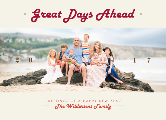 new year's cards - Great Days Ahead by Martin Rigodon
