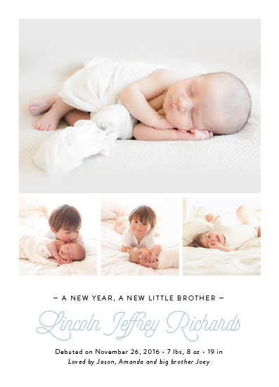 new year's cards - New Year, New Addition by Ann Gardner