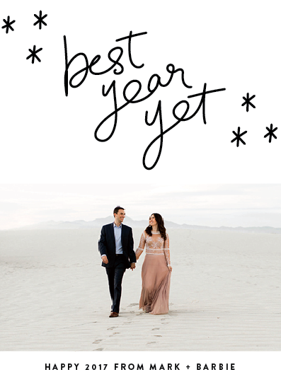 new year's cards - Best Year Yet by Up Up Creative
