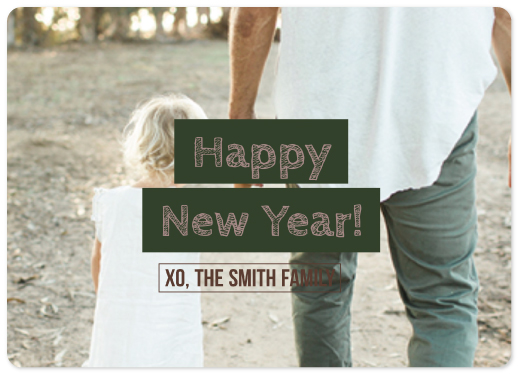 new year's cards - XO New Year by Kris Lynn