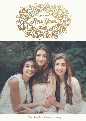 new year's cards - Mulberry Crest by Griffinbell Paper Co.