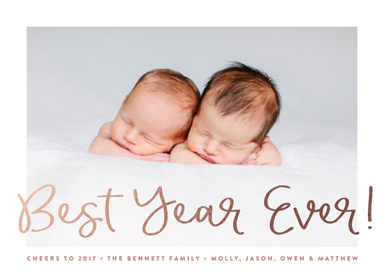 new year's cards - The Best Year Ever by Erica Krystek