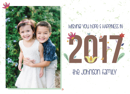 new year's cards - Hope & Happiness by Stephani Mrozinski