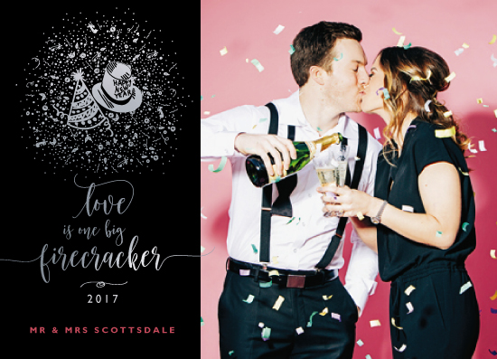 new year's cards - Love's a Firecracker by CaroleeXpressions