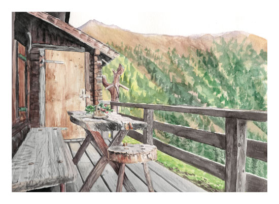 art prints - Rustic Overlook by Erica Sorg