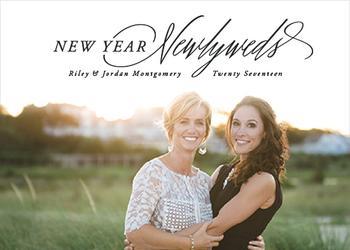 New year, Newlyweds