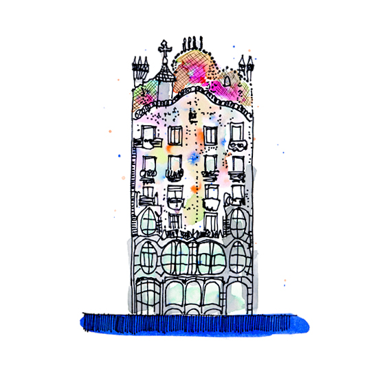 art prints - Barcelona Love by Maria Montiel
