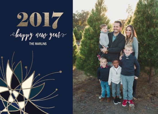 new year's cards - Geometric Flower by Ilidia Nicholas