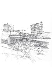 Pike Place Market by Laura Malkasian Huggins
