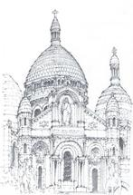 Sacre Coeur, Paris by Laura Malkasian Huggins