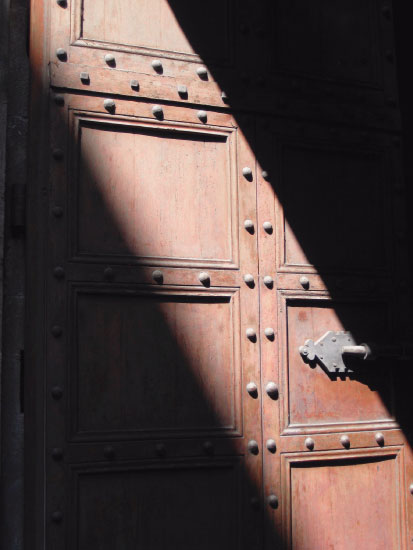art prints - Door in the shadows, Italy by Laura Malkasian Huggins