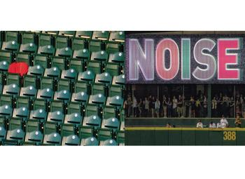 Quiet in the seats - Noise in the Bullpen - intense ball game