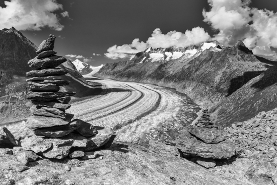 art prints - Aletsch glacier by Peter Stein